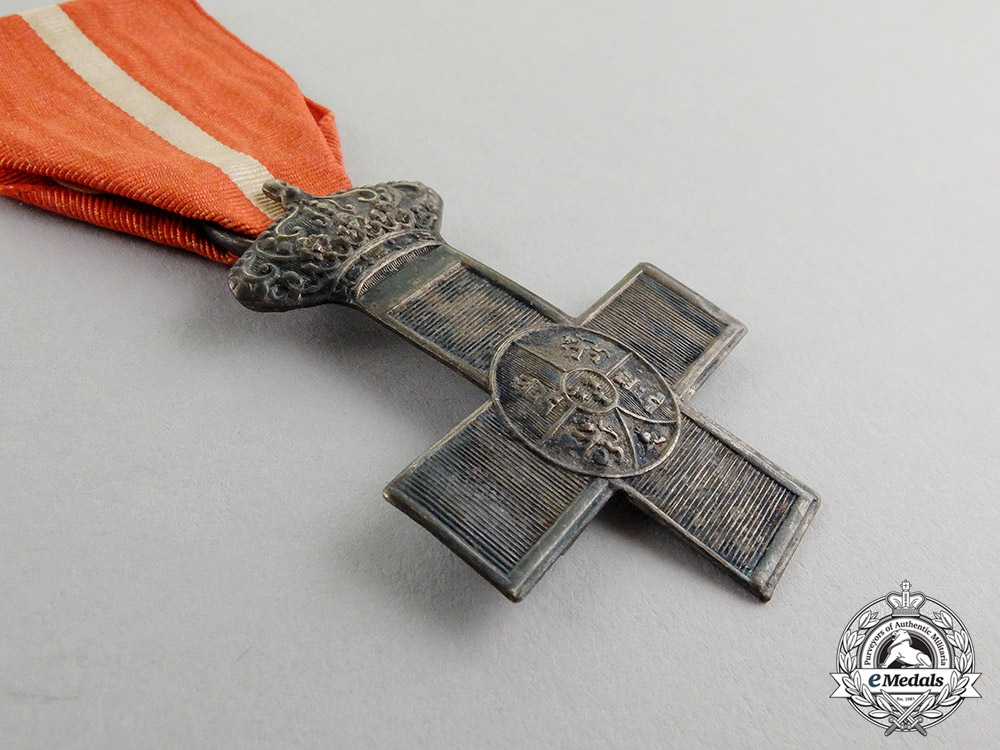 Spain. An Order of Military Merit, Silver Cross with Red Distinction, Type IV (1875-1931)