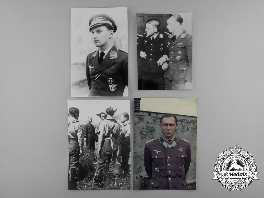 A Lot of Four Post-War Knight's Cross Recipient Signed Photographs