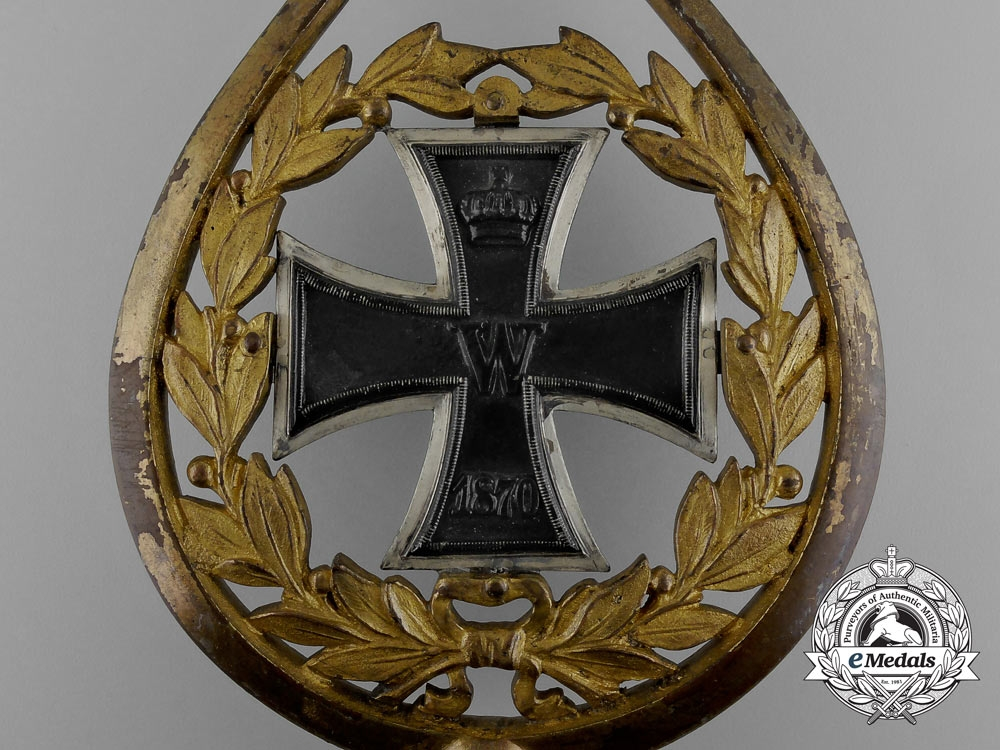 A Scarce Prussian Grand Cross of the Iron Cross 1870 Battalion Flag Topper