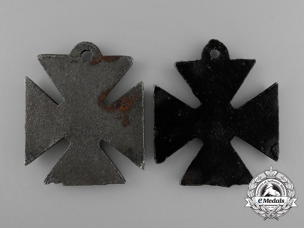 A Grouping of Two First War British Anti-German Propaganda Medal Against German Excesses
