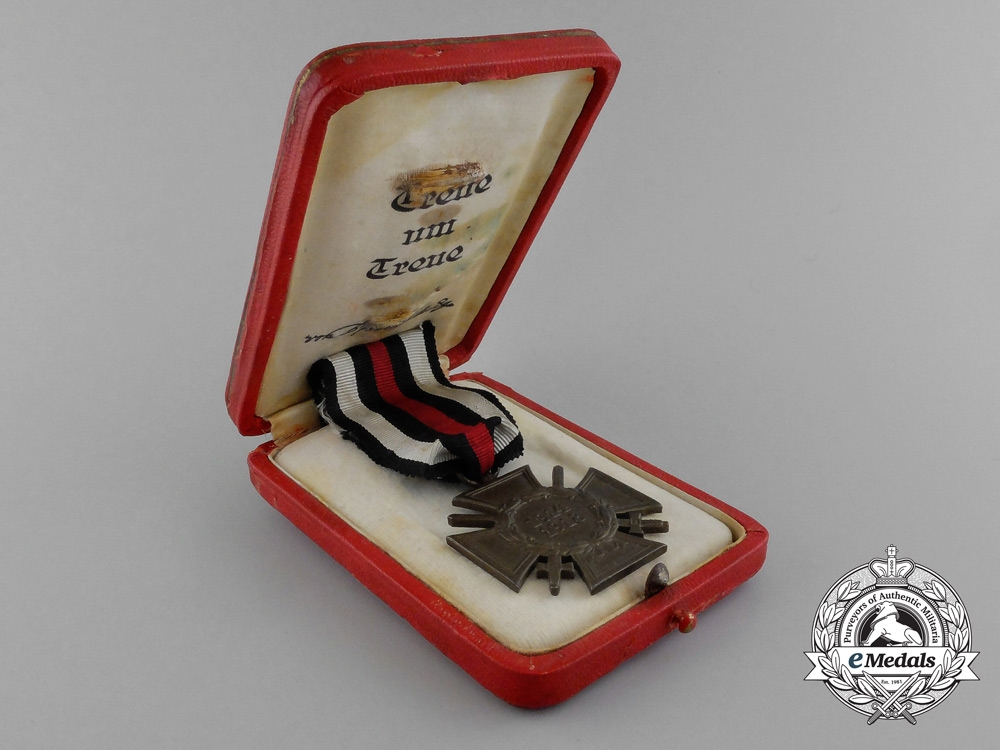 "A Mint Honour Cross of the War 1914/18 ""Hindenburg Cross"" in its Original Case of Issue"