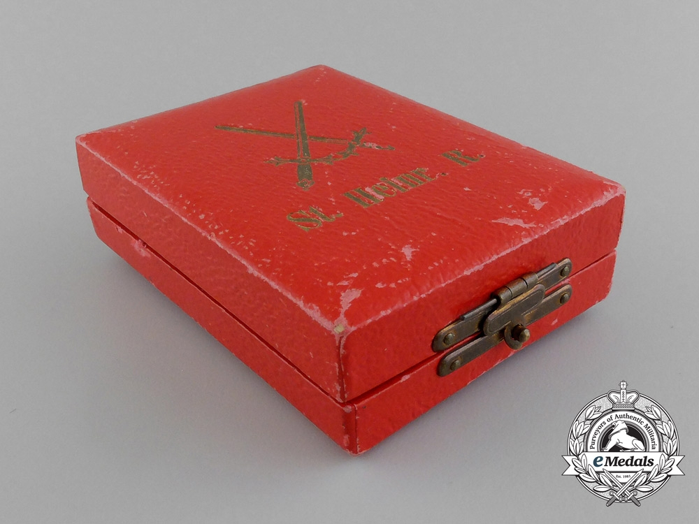 A First War Saxon Military Order of St. Henry In Its Original Case of Issue by G.A Scharffenberg