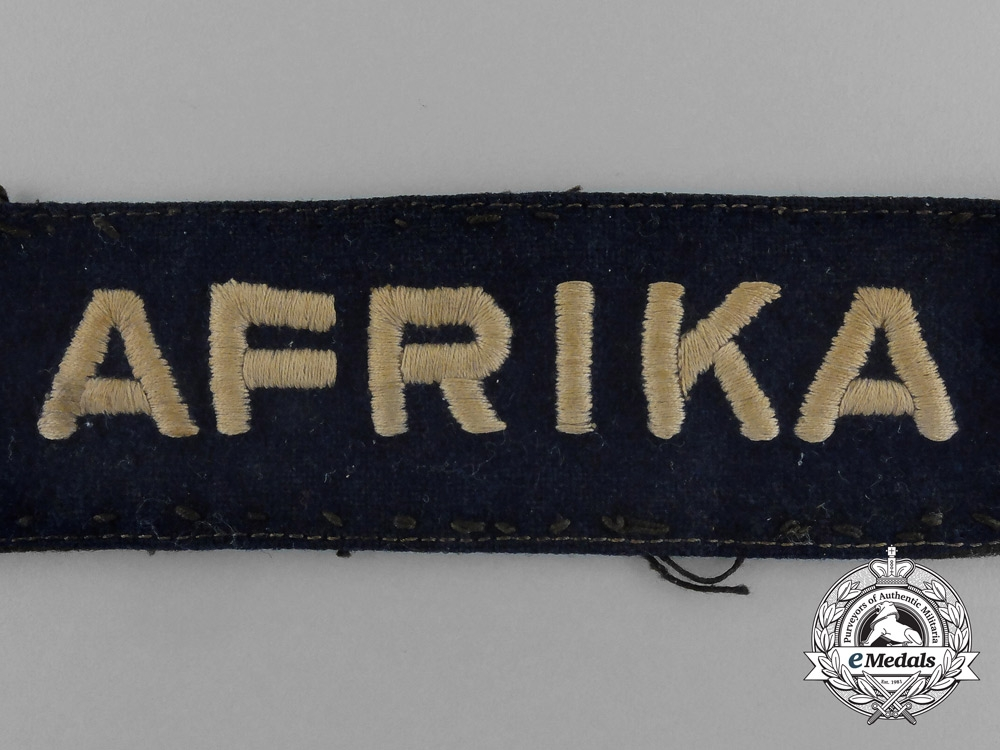 "A Fine Uniform Removed Luftwaffe ""Afrika"" Cuff Title"