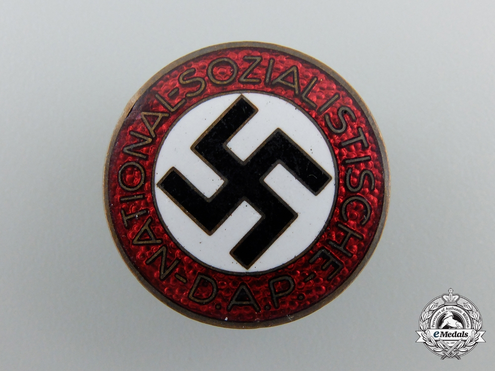 An NSDAP Party Badge by Wilhelm Deumer