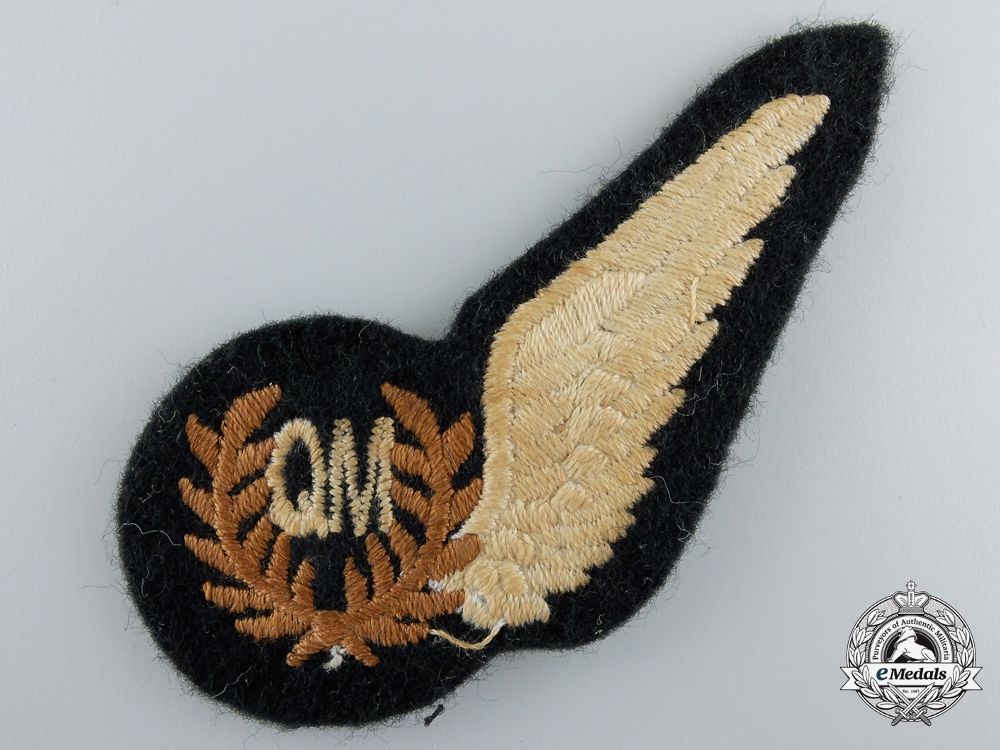 A Second War Royal Air Force (RAF) Quartermaster (QM) Wing