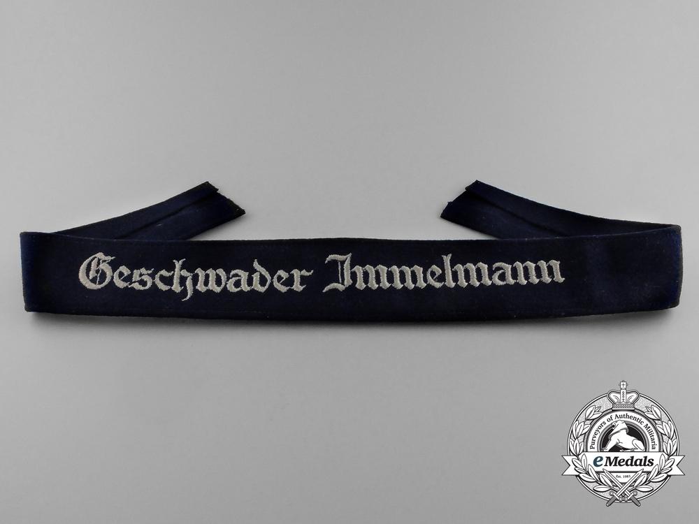 A Luftwaffe Geschwader Immelmann Cuff Title