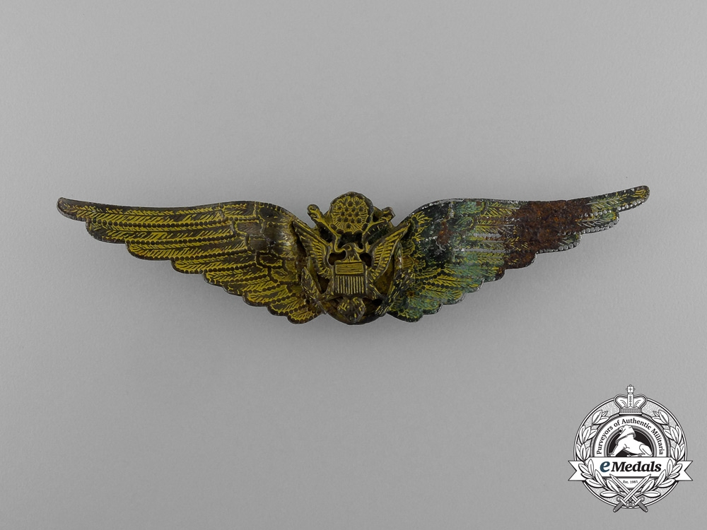 United States. A China Field Made Army Air Force Aircrew Badge