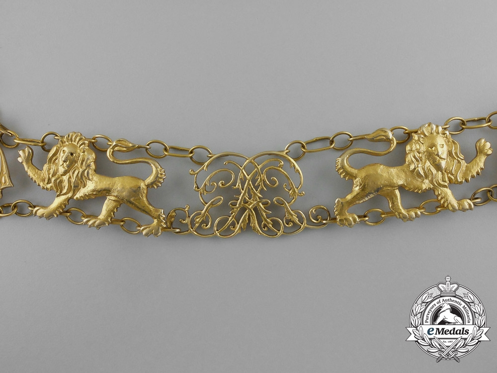 A Very Fine 1860's Collar of the Guelphic Order in Gold
