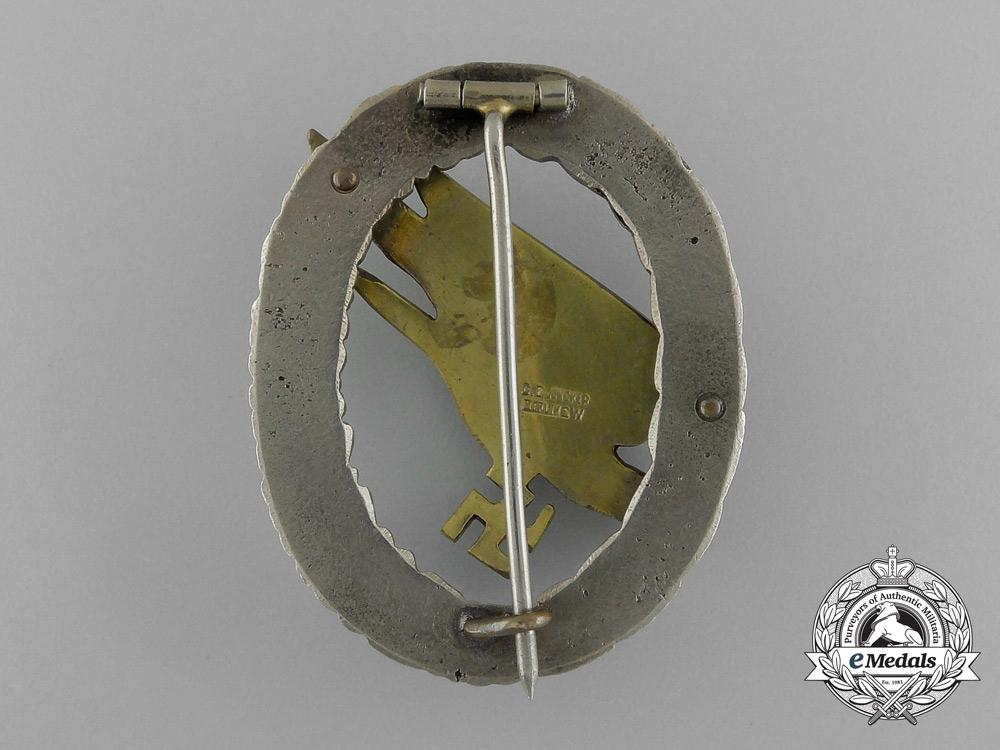 An Early Quality Cased Luftwaffe Paratrooper/Fallschirjäger Badge by C. E. Juncker