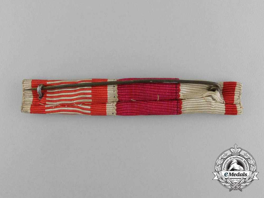 An Austrian Three-Ribbon Ribbon Bar