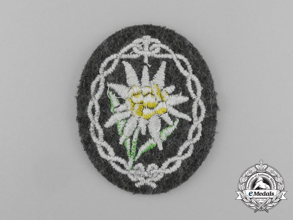 A Mint Wehrmacht Heer (Army) Officer's Edelweiss Badge