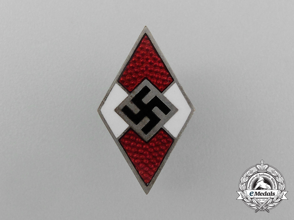 An HJ Membership Badge by Ferdinand Wagner of Pforzheim