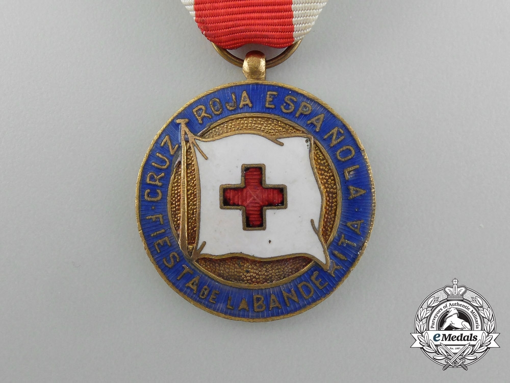 A Spanish Red Cross Flag Festival Medal