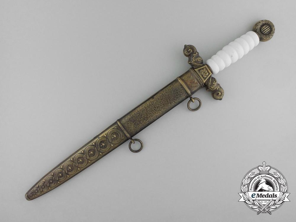 Croatia, Independent State. A Second War Croatian Navy Officer's Dagger by Braca Knaus, Zagreb