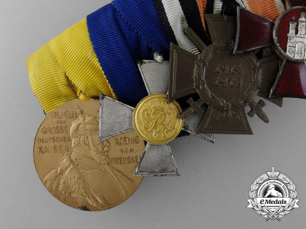 A Landwehr-Officers-Frack Medal Bar of Seven Awards