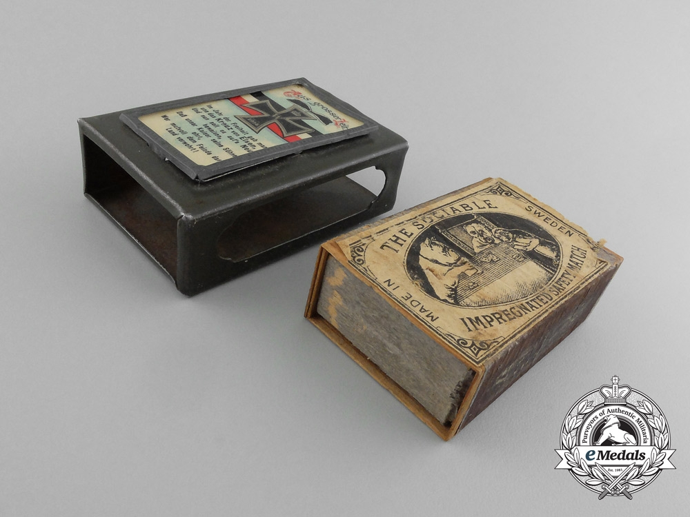 """A First War German """"From the Great Age"""" Matchbox Cover with Matchbox"""