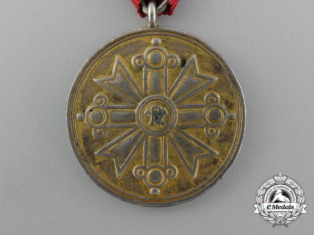 A Latvian Order of Viesturs; Gold Grade Medal