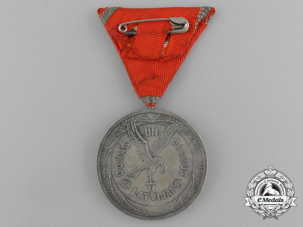 A Latvian Cross of Recognition, Silver Grade Medal