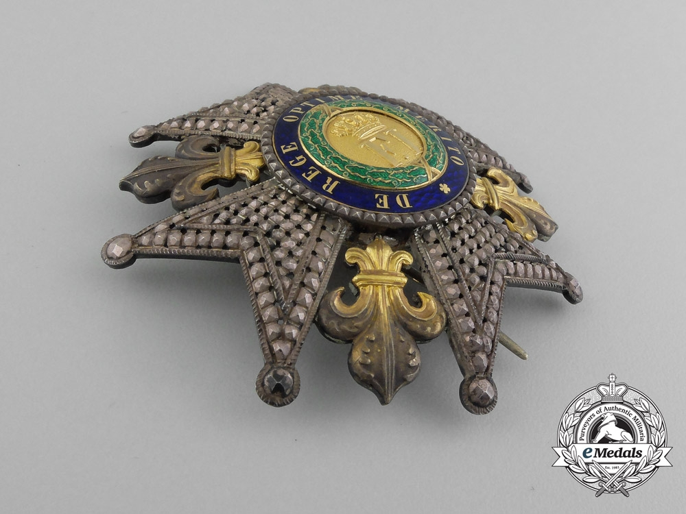 An Kingdom of Sicily Royal Order of Francis I; Grand Cross Breast Star by Lemaitre, Paris