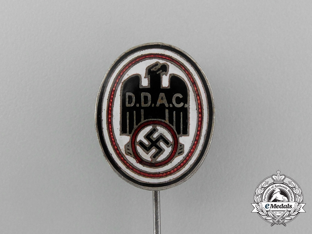 A DDAC (German Automobile Club) Membership Stick Pin by Biedermann & Co.