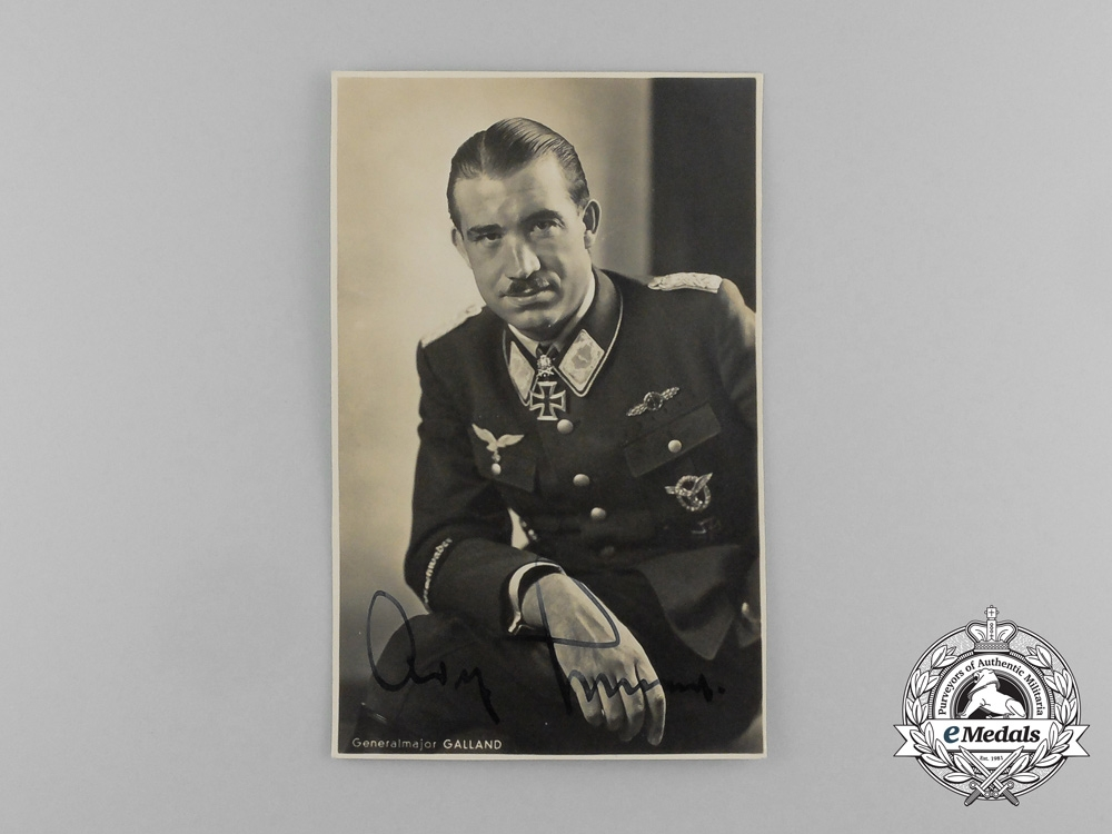 A Signed Wartime Picture Postcard of Knight's Cross Recipient Adolf Galland