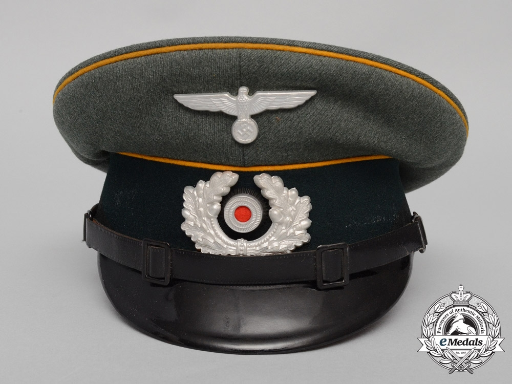 A Mint 1937 Produced Wehrmacht Heer (Army) Cavalry NCO's Visor Cap by Gottfried Nolte