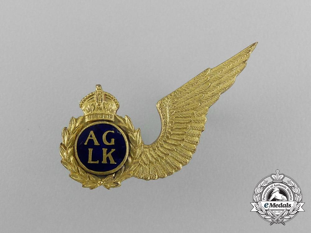 A Second War South Africa Air Force (SAAF) Air Gunner Wing