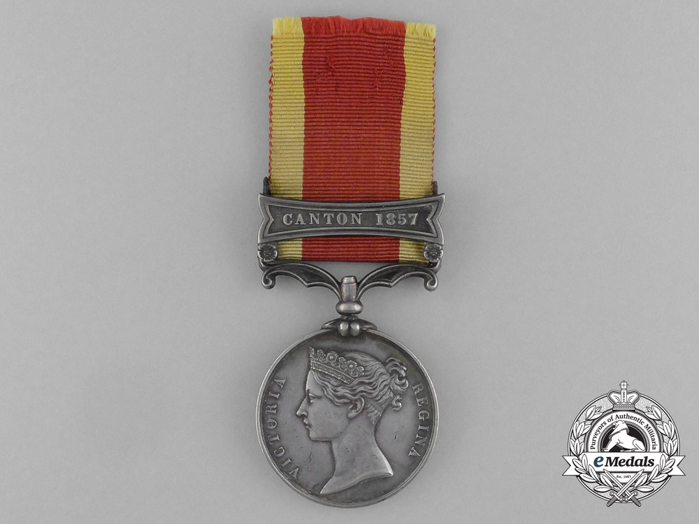 A Second China War Medal 1857-1860; Canton