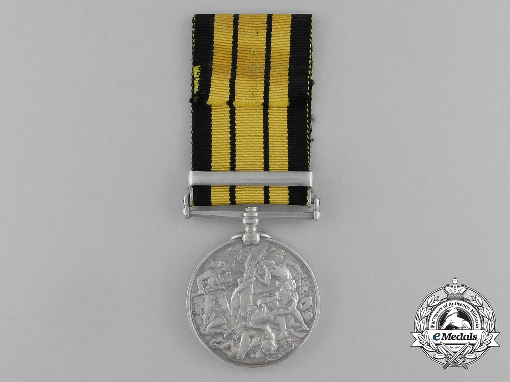 An East and West Africa Medal to Leading Seaman J.W. Oakley; H.M.S. Turquoise
