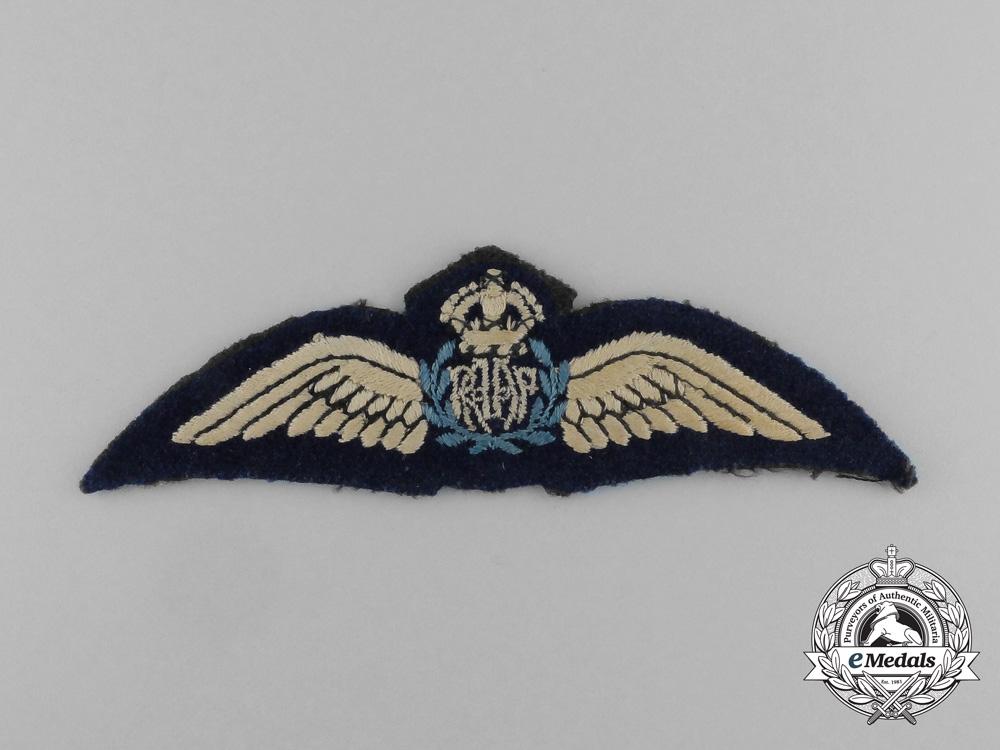 A Second War Royal Australian Air Force (RAAF) Pilot Wing
