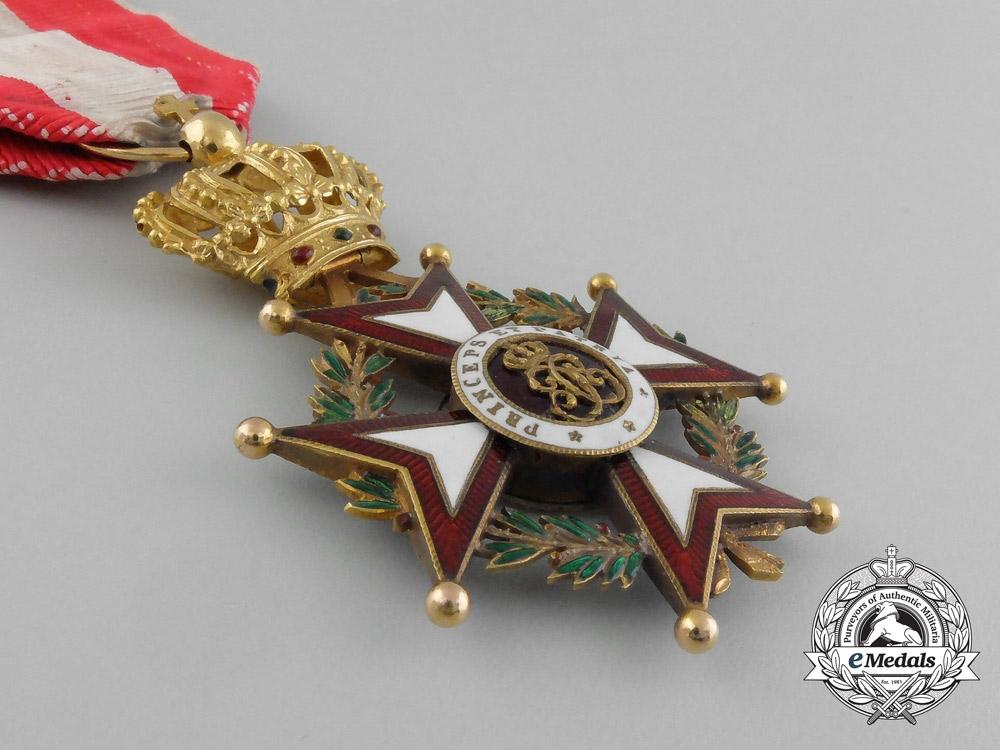 A Superb Order of Saint-Charles in Gold; Officer
