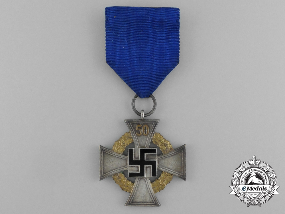 A German Special Grade 50 Years of Faithful Service Decoration by Deschler & Sohn