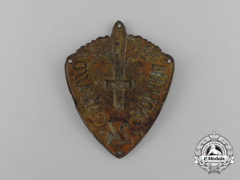 An Italian 24th Infantry Division Gran Sasso (later Pinerolo) Sleeve Badge