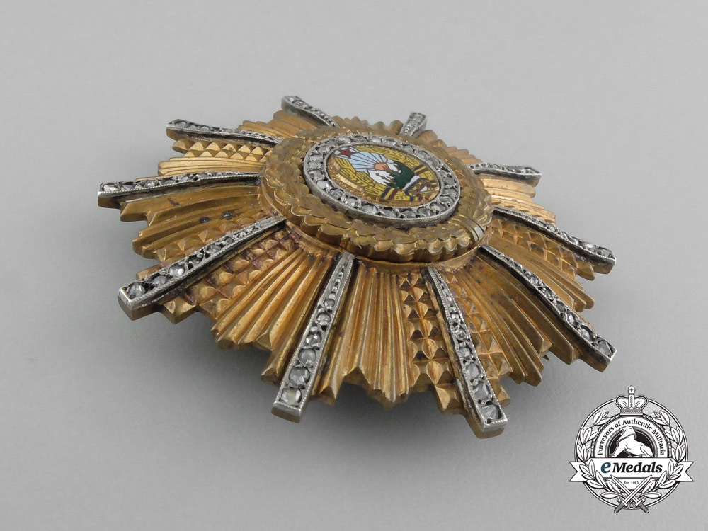 A Romanian Order of the 23rd of August with Diamonds