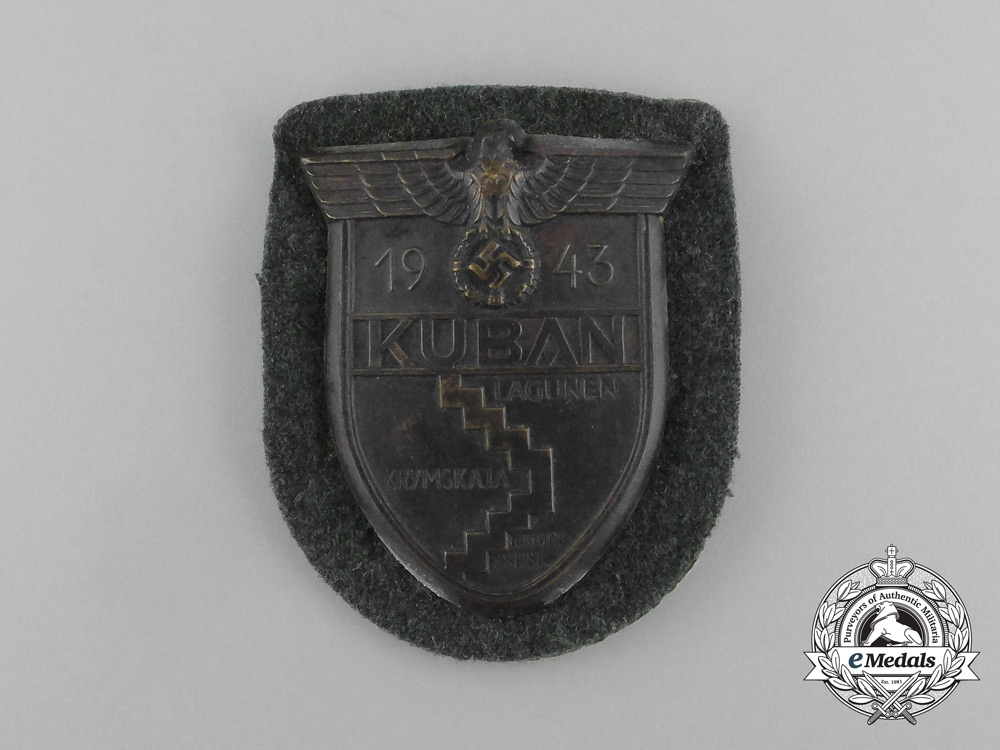 A Wehrmacht Heer (Army) Issued Kuban Campaign Shield