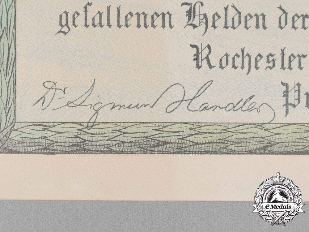 An American 1916 Bond to the Widows & Orphans of the Fallen Germans