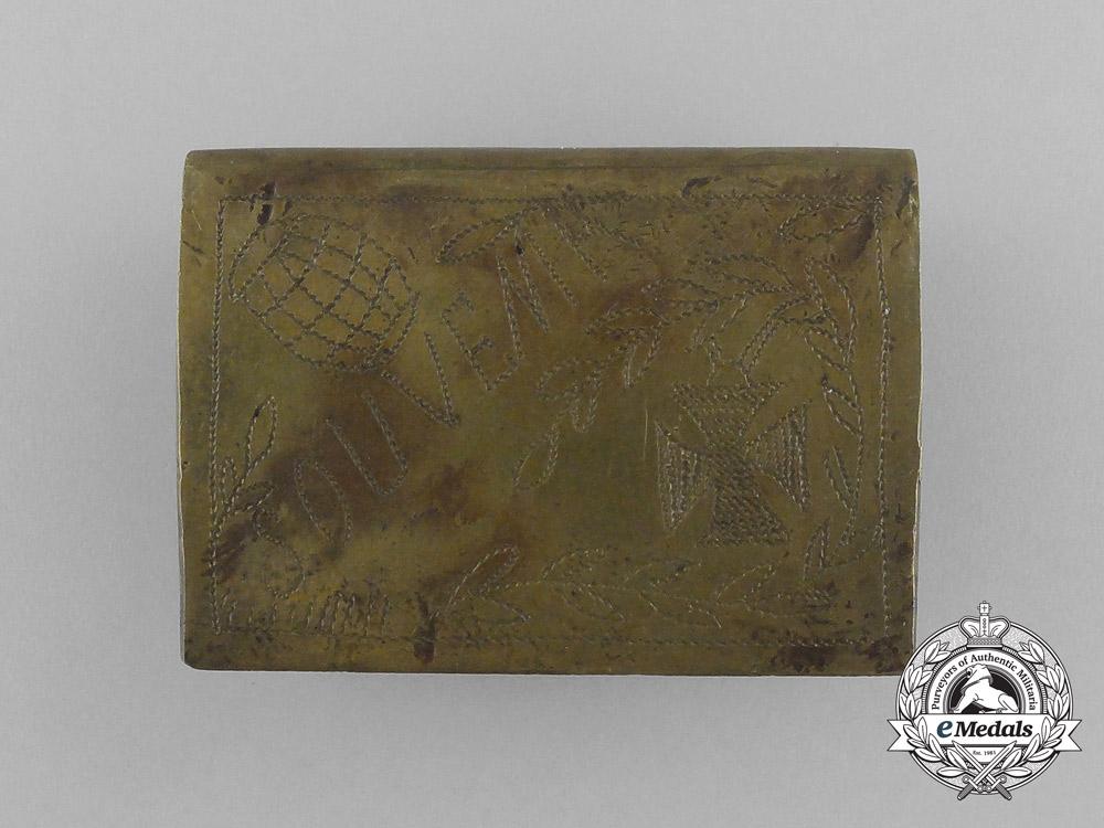"""A First War German """"Souvenir"""" Matchbox Cover"""