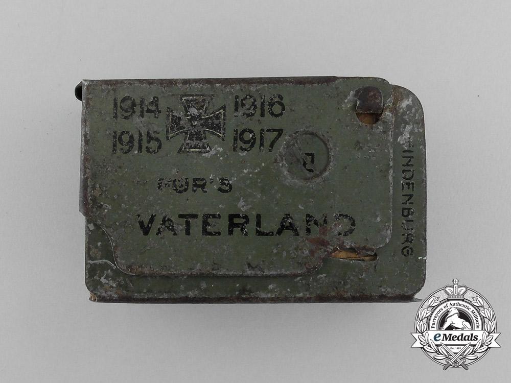 A First War Iron Cross 1914 & Fatherland Matchbox Cover