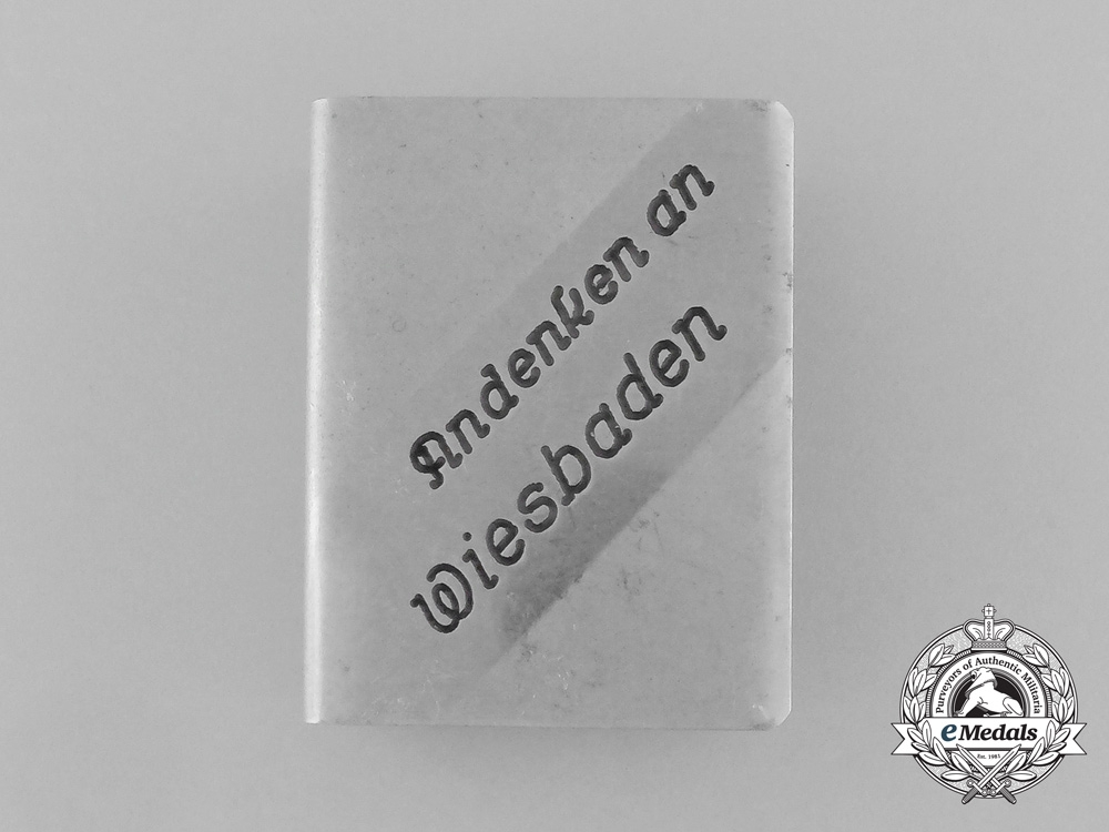 A First War German Matchbox Cover for the Sinking of SMS Wiesbaden
