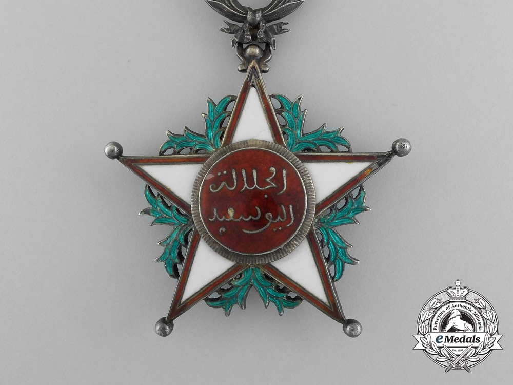 Morocco, French Protectorate. An Order of Ouissam Alaouite, 3rd Class Commander, by Arthus Bertrand, c.1940