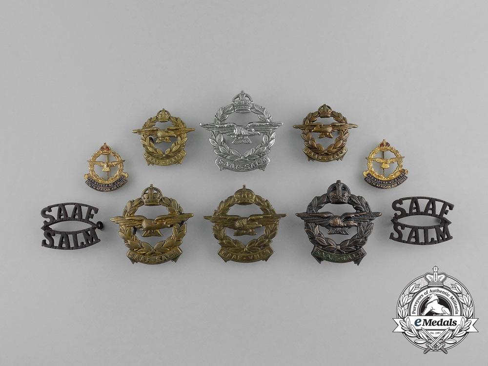 Ten South African Air Force (SAAF) Badges