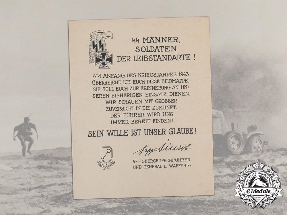 A 1st SS Panzer Division Leibstandarte SS A.H. Solider's Service Photo Album