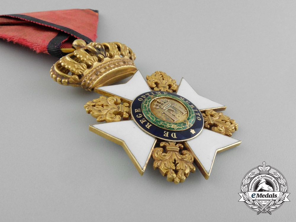 An Early Sicilian Royal Order of Francis I; Knight in Gold