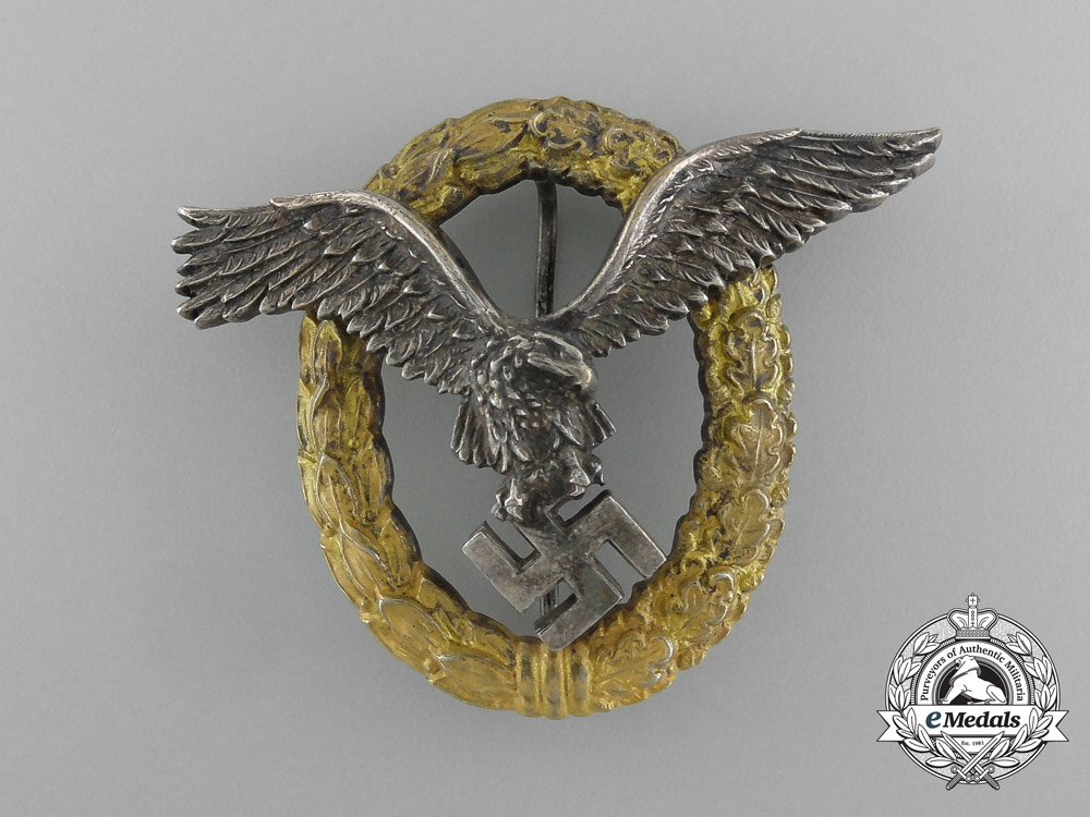An Early Combined Pilot & Observer Badge by C.E.Juncker