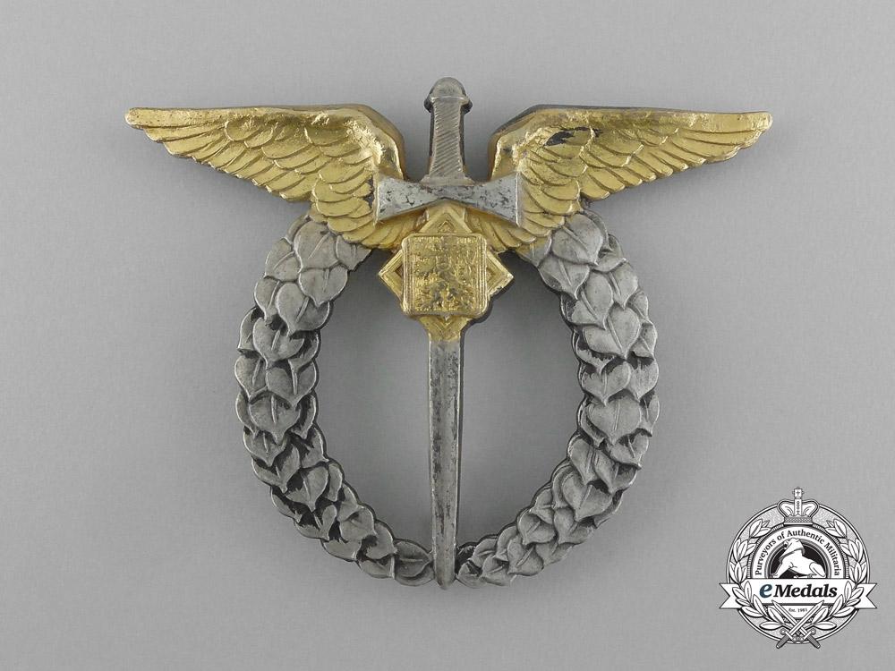 A 1930's Czechoslovakian Silver Air Force Pilot's Badge