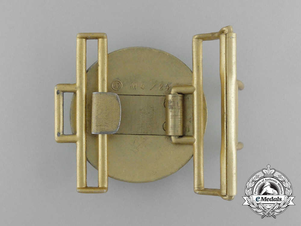 Germany, NSDAP. A Political Leader's Brocade Dress Belt Buckle with Receiver, by Friedrich Linden