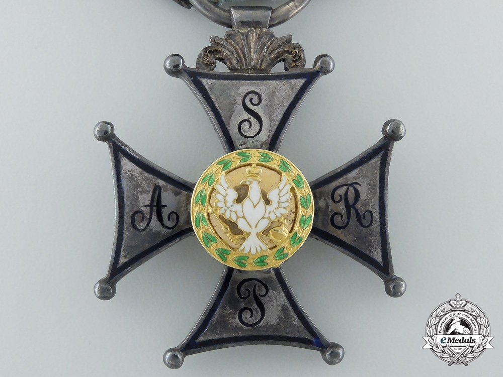A Polish Military Order of the Duchy of Warsaw (1811-1814); Silver Cross