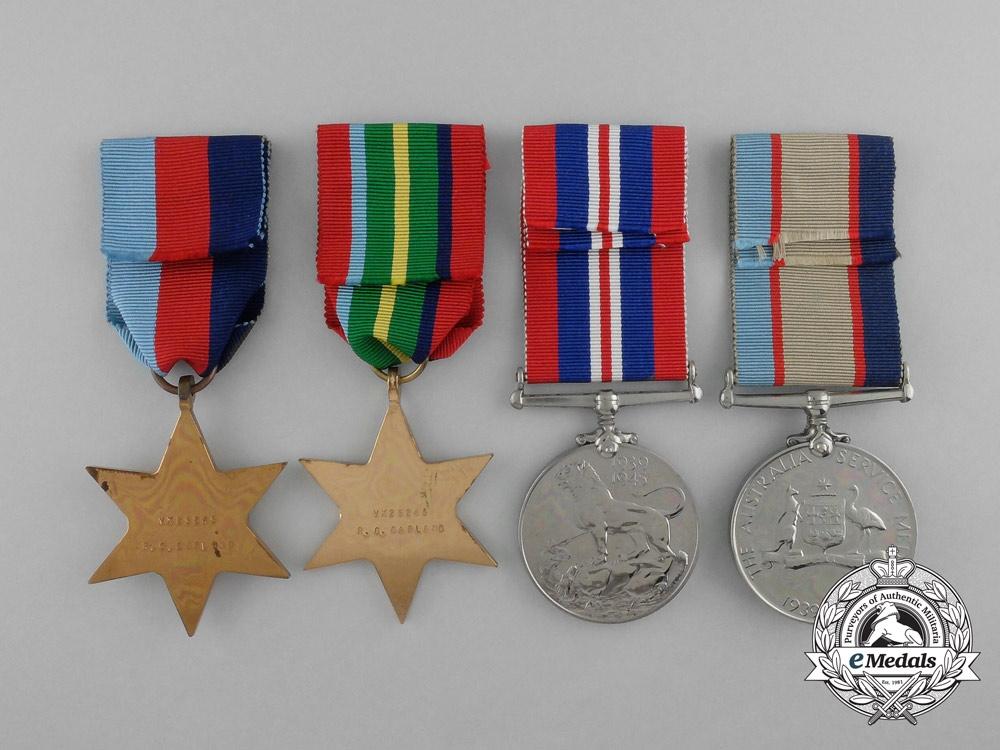Australia. A Second War Group to R.G. Garland, Fullsize and Miniature