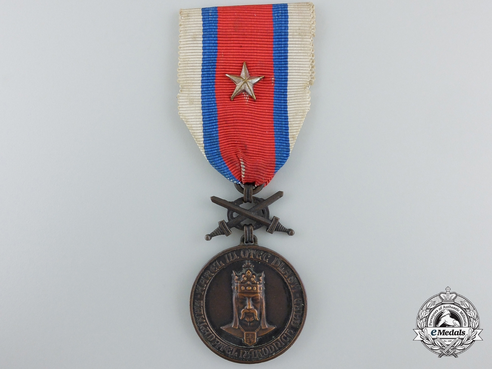 A Czechoslovakian National Guard Medal 1918-1919