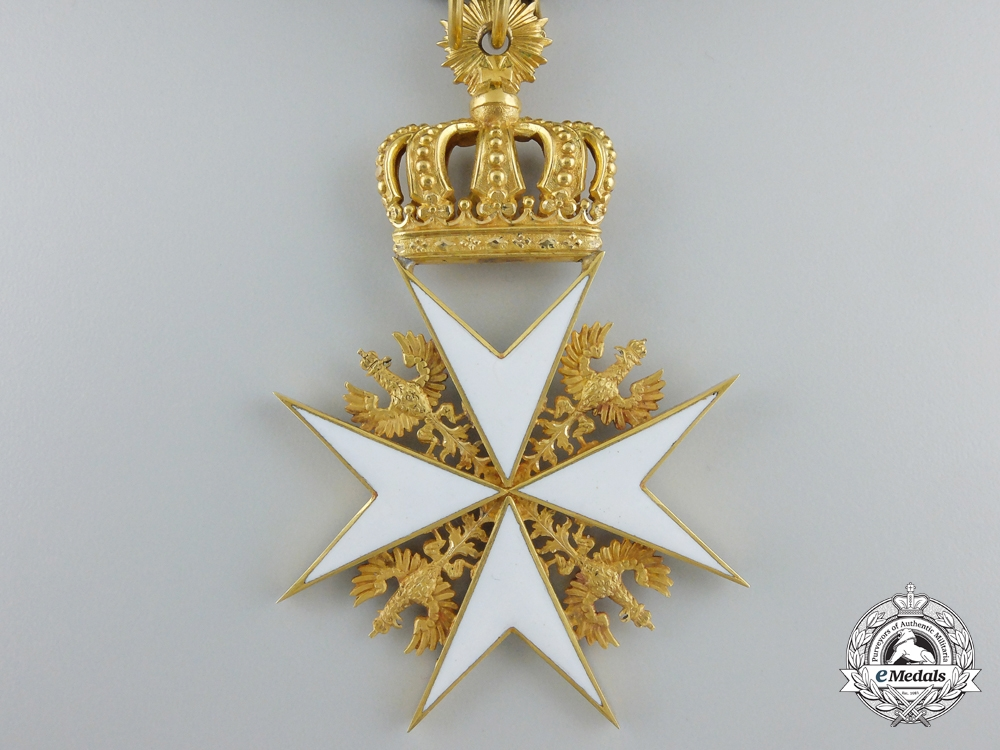 A Prussian Order of St.John; Cross of the Legal Knights in Gold by Gorge Hofsaner